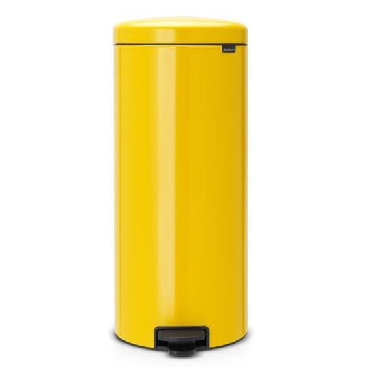 Brabantia 30 Litre NewIcon Daisy Yellow Pedal Bin