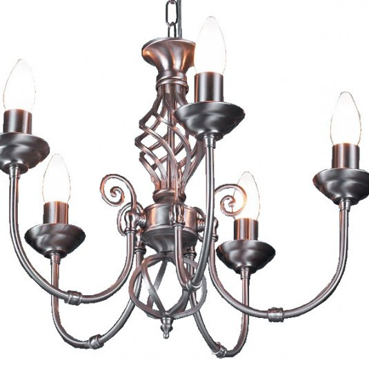 HU Home Barley Satin Chrome 5 Arm Pendant Light