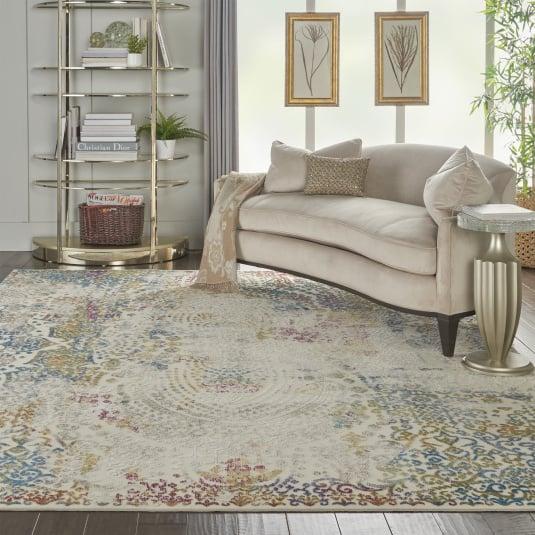 Radiant Ivory Multicolour 221 x 69cm Rug | Housing Units