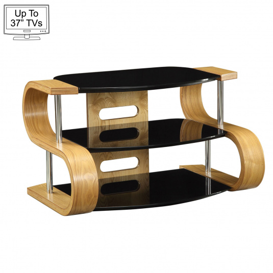 """Jual JF203 85cm Curve Light Oak TV Stand for up to 37"""" TVs"""