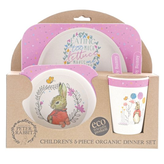 Bamboo Eco Flopsy Bunny Baby Set Bowl, Cup & Plate Set