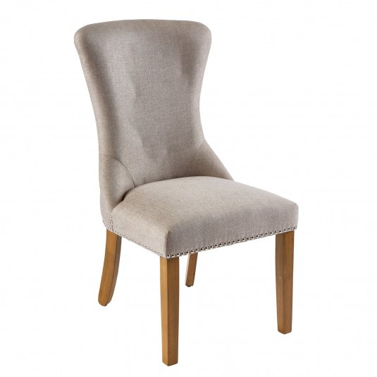 Ruby Pumice Fabric Dining Chair with Knocker