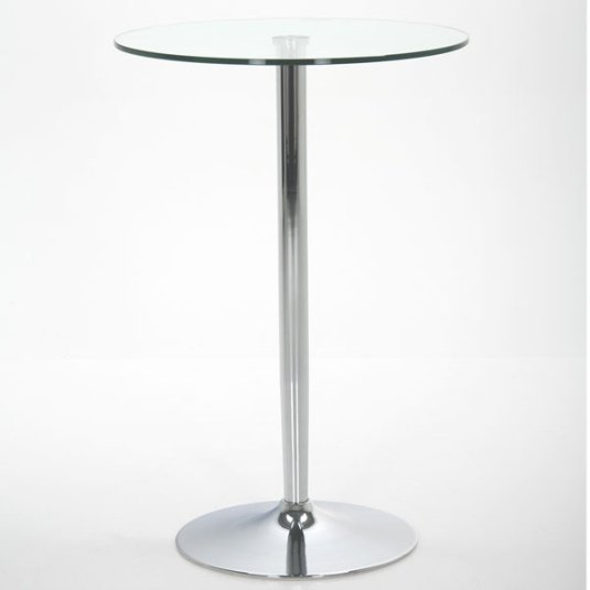 Titan Glass and Chrome Bar Table