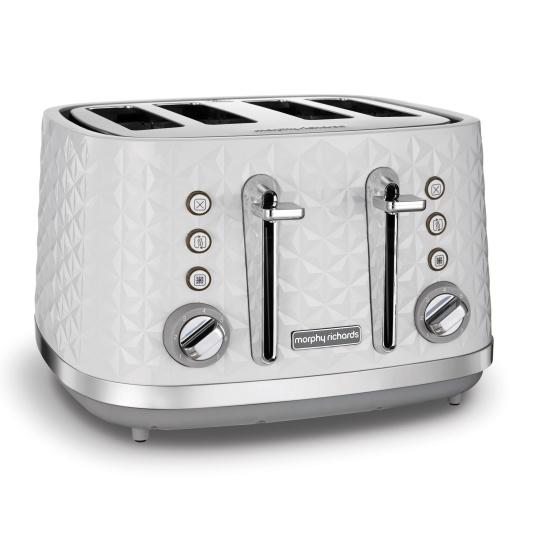 Morphy Richards Vector White 4 Slice Toaster