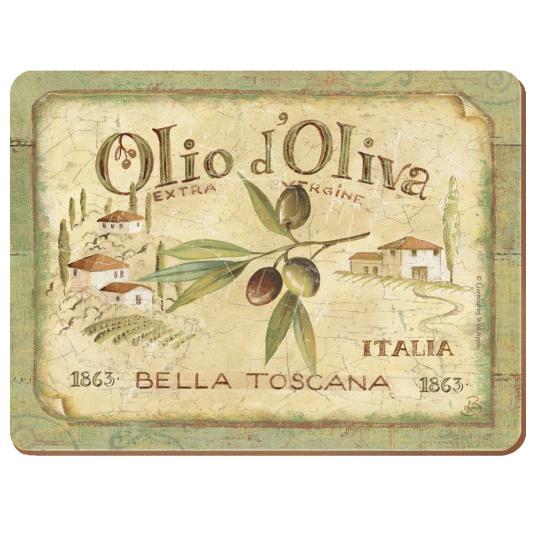 Premium Olio D'Oliva Set of 6 Placemats