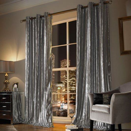 Kylie Minogue Iliana 66 x 54 Silver Curtains