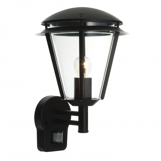 Inova PIR Black 1 Light Outdoor Wall Light