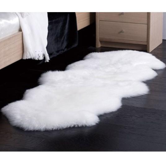 Double White Sheepskin Rug