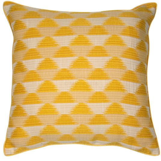 Malini Sunrise Mustard Cushion