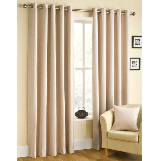 Rico Natural Ready Made Eyelet Curtains