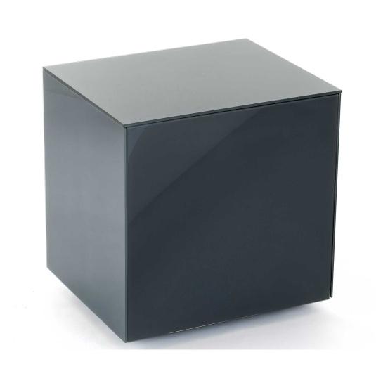 Invictus Grey High Gloss Lamp Table