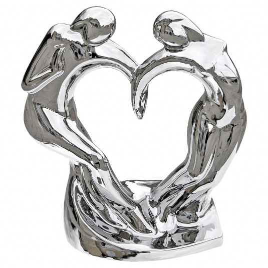 Chrome Ceramic Dancing Couple