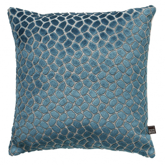 Scatter Box Lapis Teal Cushion Patterned Front