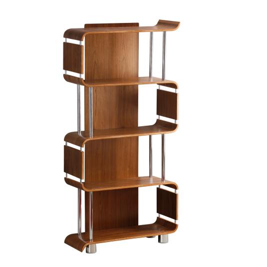 Jual BS201 Curve Walnut Bookcase