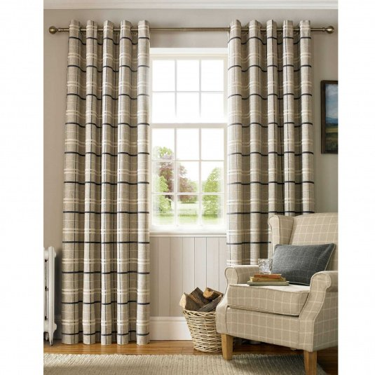 York Charcoal Curtains