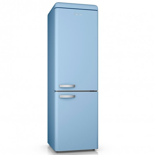 Swan Retro Blue 70/30 Fridge Freezer