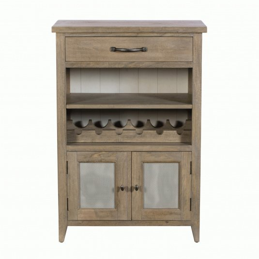 Milton Small Mango Wood Wine Cabinet
