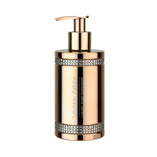 Vivian Gray Golden Crystal Soap Dispenser