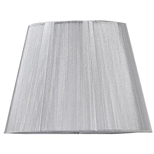 Silk String 14 Inch Silver Semi Round Lamp Shade