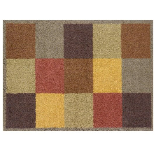 Turtle Mat Brown Squares Floor Mat