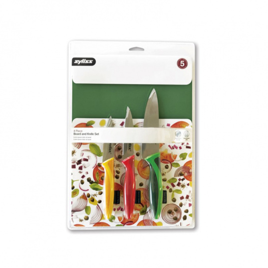 Zyliss 4 Piece Board and Knife Set