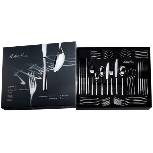 Arthur Price Signature Warwick 42 Piece Cutlery Set