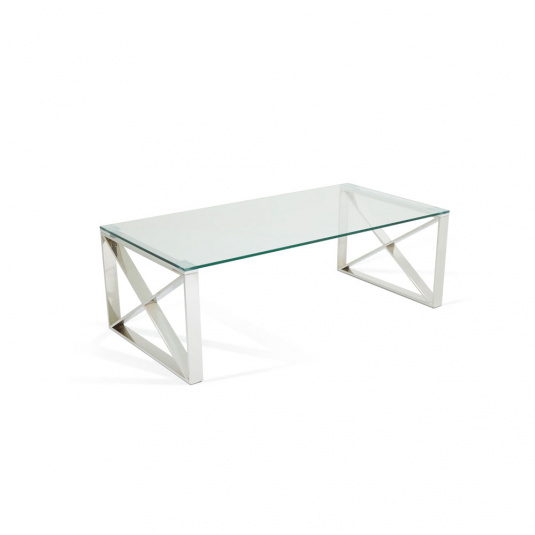 Astra Clear Glass Console Table