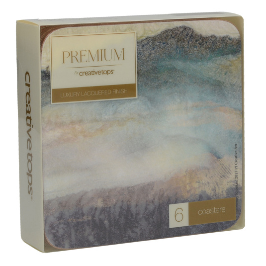 Lustre Mineral Pack Of 6 Coasters