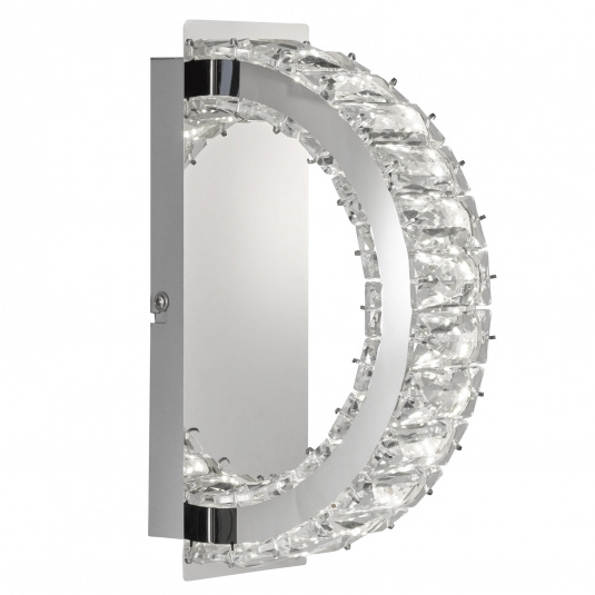 Wofi Anesa Chrome Small Wall Light