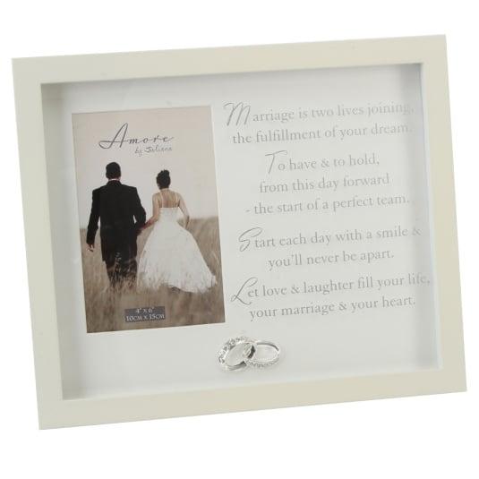 Amore Crystal Rings Wedding Photo Frame