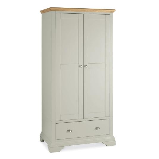 Henley Soft Grey and Oak Double Wardrobe