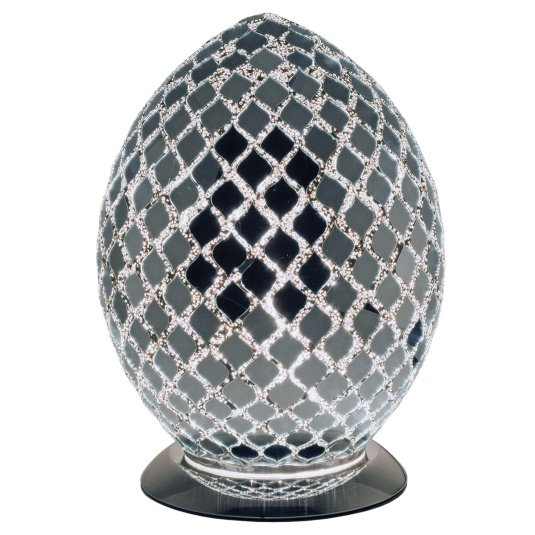 Mirrored Medium Egg Mosaic Table Lamp