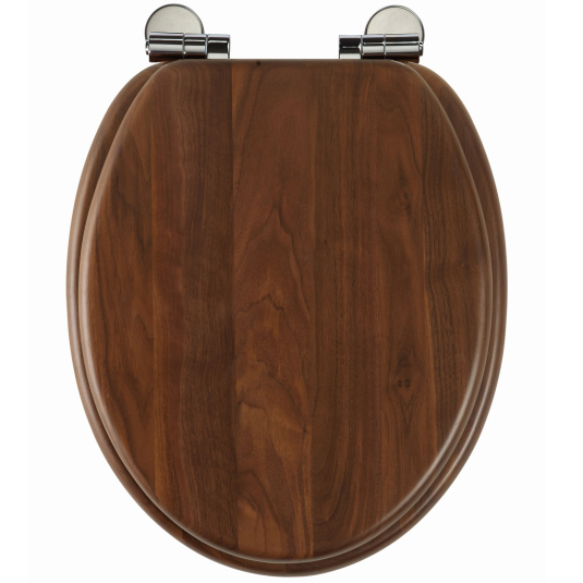 Roper Rhodes Traditional Soft Closing Walnut Toilet Seat