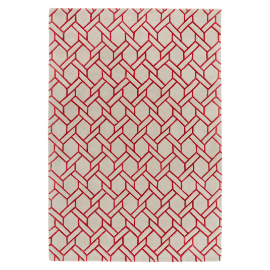 Nexus Silver and Red 120cm x 170cm Rug