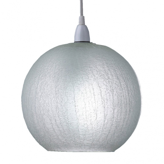 Crackle Glass White Pendant Shade