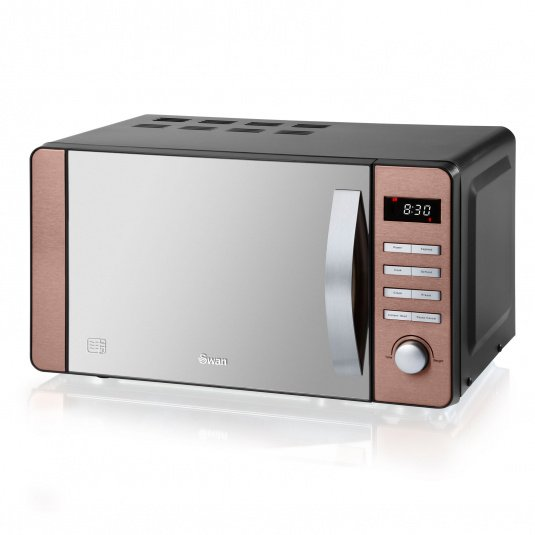 Swan 800W Copper Digital Microwave