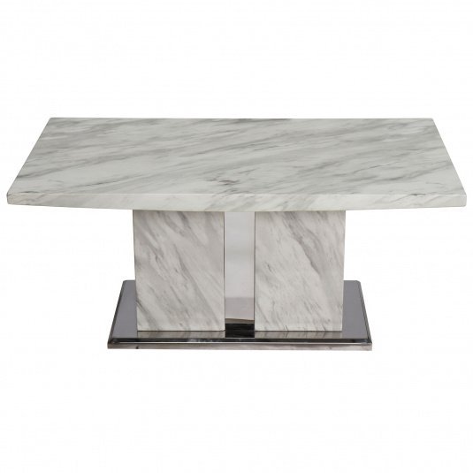 Montero White Marble Coffee Table