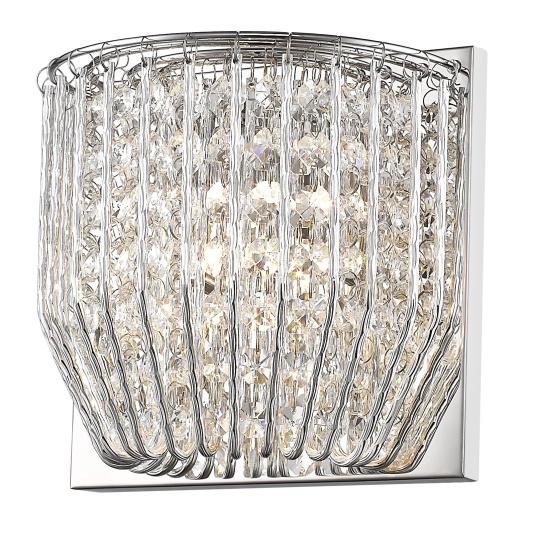 Carlo Crystal & Chrome 1 Light Wall Light