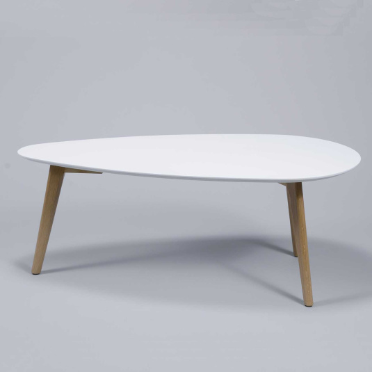 Moby White Coffee Table