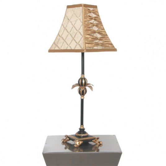 Tamara Colonial Style Black and Gold Table Lamp