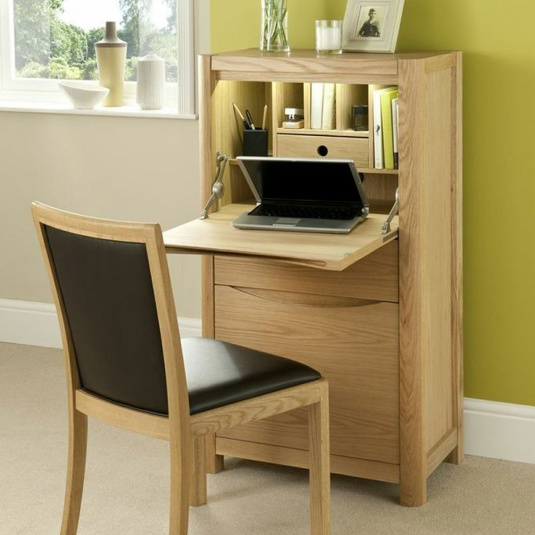 Oslo Light Oak Compact Home Office Unit