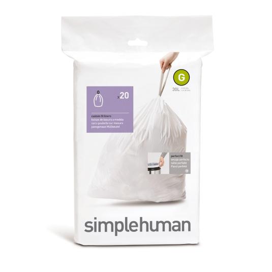 Simplehuman 30 Litre Sure Fit Bin Liners - Size G