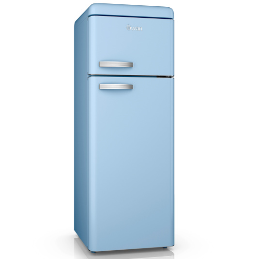 Swan Retro Blue Top Mounted Fridge Freezer