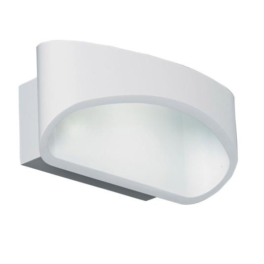Johnson White 1 Light Wall Light