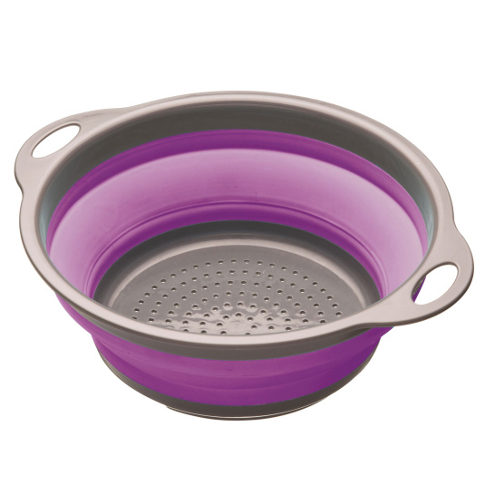 Colourworks Purple Collapsible Colander with Handles