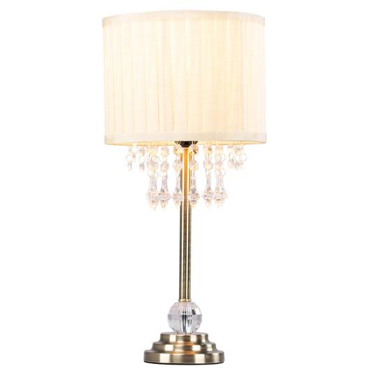 Georgia Bronze Crystal Droplet Table Lamp