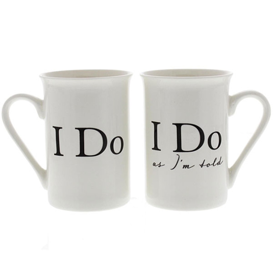 Amore I Do and I Do As Im Told Pair of Mugs Gift Set