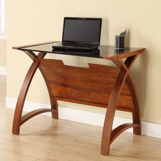 Jual PC201 Curve Walnut Laptop Desk