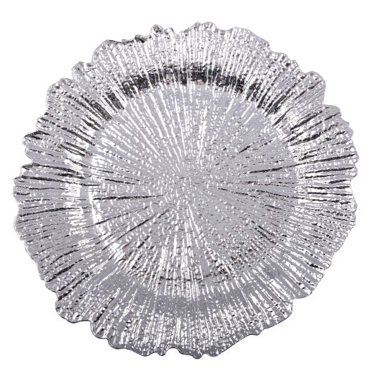 Silver Flower Charger Plate | Housing Units