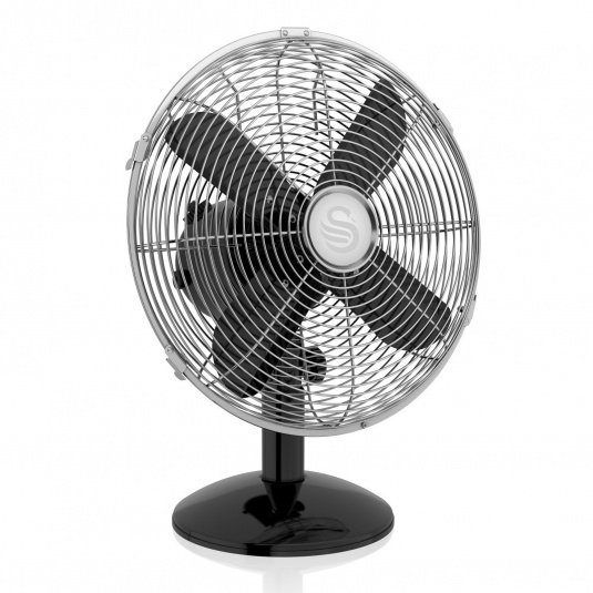 Swan Retro Black 12 Inch Desk Fan